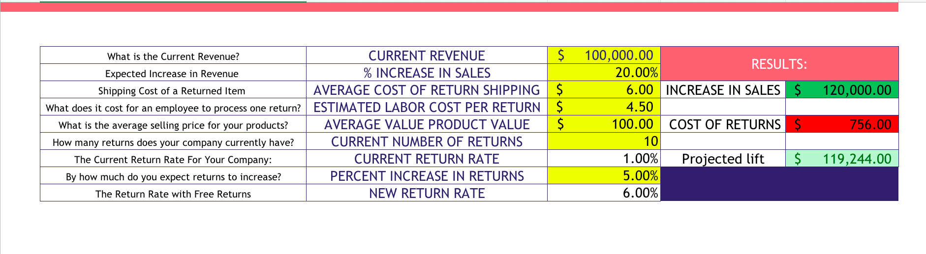 return policy shipping cost